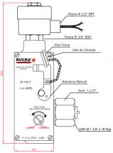 Cabeça de Comando Elétrico Explosão Sistema CO2