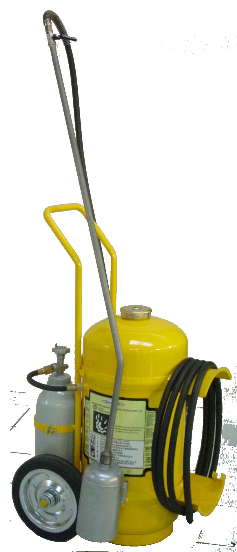 Extintor de Incêndio Sobre Rodas Classe D