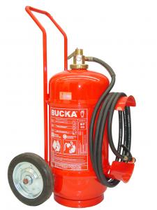 Extintor de Incêndio Sobre Rodas Pó Químico BC Pressurização Direta