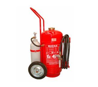 Extintor de incendio sobre rodas po quimico ABC pressirizacao direta