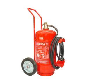 Extintor de incendio sobre rodas po quimico BC pressirizacao direta